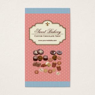 Caixa feita sob encomenda da loja do cupcake da cartão de visitas