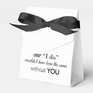 Caixa feita sob encomenda do favor do casamento