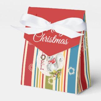 Caixa feliz do favor da barraca do Natal das