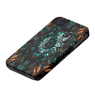 Caixa floral alaranjada do companheiro do capa de capa para iPhone 4 Case-Mate