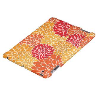 Caixa floral alaranjada do iPad Capa Para iPad