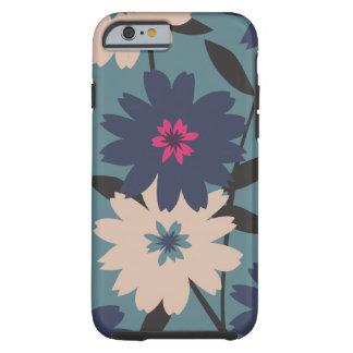 Caixa floral azul & de creme do iPhone 6 Capa Tough Para iPhone 6
