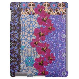 Caixa floral azul do iPad por KCS Capa Para iPad