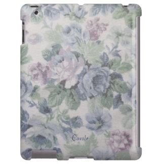 caixa floral azul velha do iPad do impressão do te Capa Para iPad