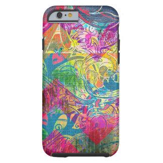 Caixa floral colorida abstrata do iPhone 6 dos Capa Tough Para iPhone 6
