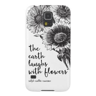 Caixa floral da galáxia S5 de Samsung do vintage Capinhas Galaxy S5
