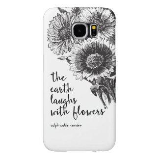 Caixa floral da galáxia S6 de Samsung do vintage Capas Samsung Galaxy S6