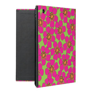 caixa floral de néon do ar de Ipad iPad Capa