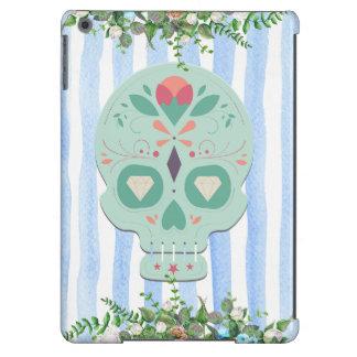 Caixa floral do crânio do açúcar capa para iPad air