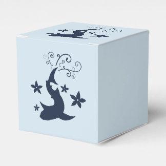 Caixa floral do favor da arte do vetor do tubarão