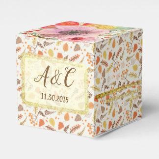 Caixa floral do favor da queda feita sob encomenda