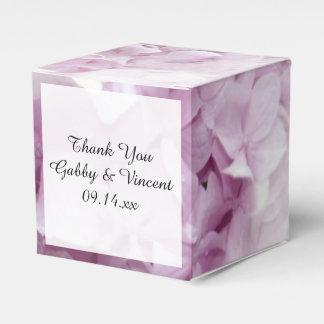 Caixa floral do favor do casamento do Hydrangea