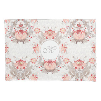 Caixa floral do travesseiro do monograma do