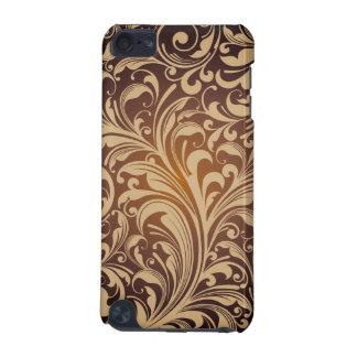 Caixa floral dourada do teste padrão capa para iPod touch 5G