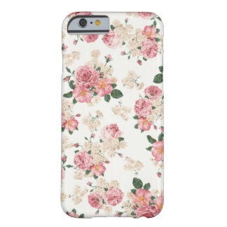 Caixa floral Pastel do iPhone 6 Capa Barely There Para iPhone 6
