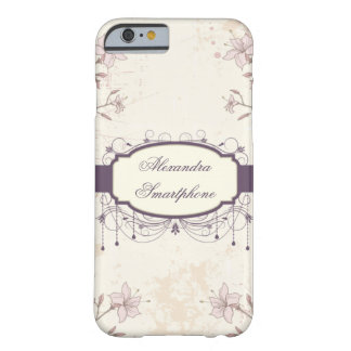 Caixa floral personalizada do iPhone 6 do vintage Capa Barely There Para iPhone 6