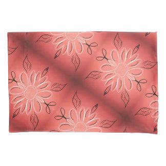 Caixa florescida do travesseiro com coral