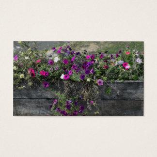 Caixa fúcsia da flor da lavanda roxa rústica cartão de visitas