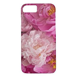 Caixa Girlish do telefone 6 da peônia cor-de-rosa Capa iPhone 7