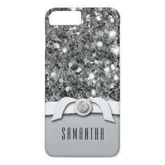 Caixa glamoroso dos confetes do brilho do diamante capa iPhone 8 plus/7 plus