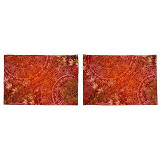 Caixa indiana do travesseiro do impressão