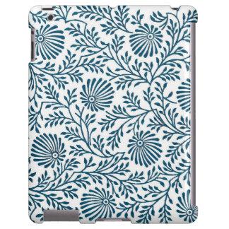 Caixa indiana floral azul do iPad de matéria Capa Para iPad