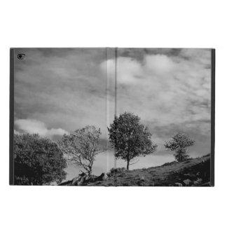 Caixa inglesa preto e branco do iPad do campo