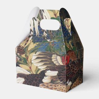 Caixa japonesa do favor do galo da pintura