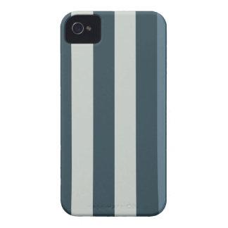 Caixa listrada azul de Blackberry do design Capinhas iPhone 4