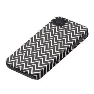 Caixa lunática branca preta do teste padrão da capas para iPhone 4 Case-Mate