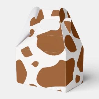 Caixa marrom ocidental do favor de partido da vaca