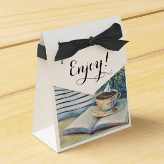 Caixa minúscula do favor do Teacup - preto Pastel