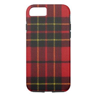 caixa moderna vermelha do Tartan de Brodie do caso Capa iPhone 7