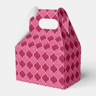 Caixa MQF-Sequins-Cor-de-rosa do favor do