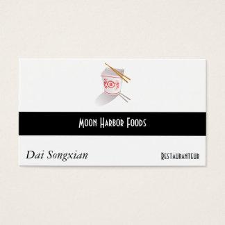 Caixa para viagem do restaurante chinês cartão de visitas