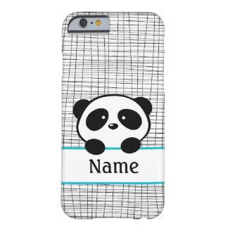 Caixa personalizada Aqua do iPhone 6 da panda Capa Barely There Para iPhone 6