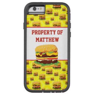 Caixa personalizada do telemóvel do cheeseburger capa tough xtreme para iPhone 6