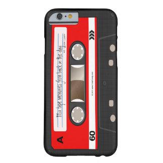 Caixa personalizada retro vermelha da cassete de capa barely there para iPhone 6