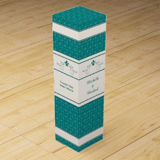 Caixa personalizada rolo do vinho da flor de lis caixas para garrafas de vinho