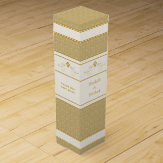 Caixa personalizada rolo do vinho da flor de lis caixa para garrafa de vinho