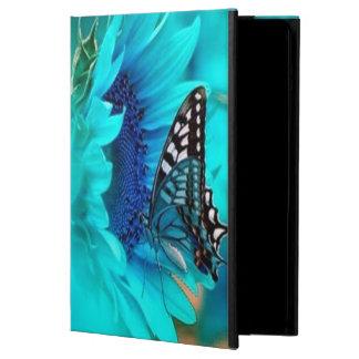 Caixa preta & azul do ar do iPad da borboleta