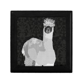 Caixa preta & branca da arte da alpaca estojo para jóia
