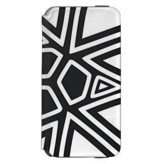 Caixa preta & branca da carteira do iPhone 6 do