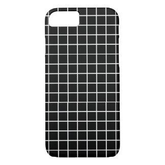 Caixa preta & branca do iPhone 7 da grade Capa iPhone 7