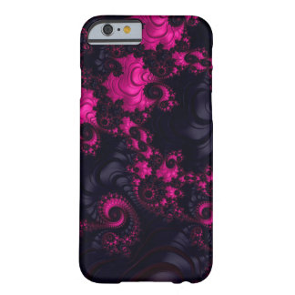 Caixa preta cor-de-rosa lindo do Fractal iPhone6 Capa Barely There Para iPhone 6