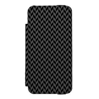 Caixa preta da carteira do iPhone 5 de Herringbone
