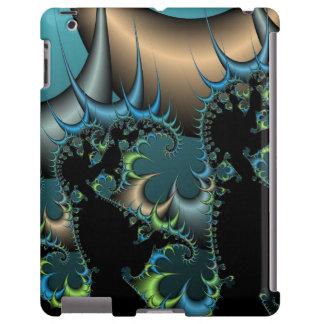 Caixa preta e azul legal do iPad do Fractal Capa Para iPad