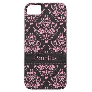 Caixa preta e cor-de-rosa bonita do iphone 5 do capas para iPhone 5