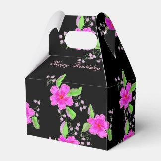 Caixa preta e cor-de-rosa florescida bonito do