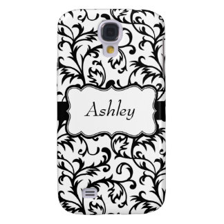 Caixa preta personalizada do iPhone 3G do damasco Galaxy S4 Covers